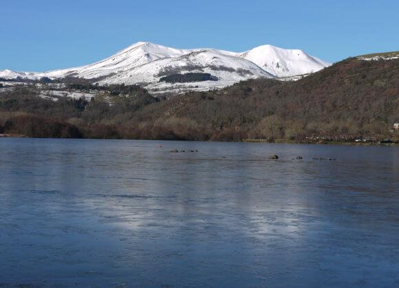 Le lac, l'hiver
